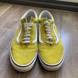 Vans Old Skool Suede Ochre & White Skate Shoes